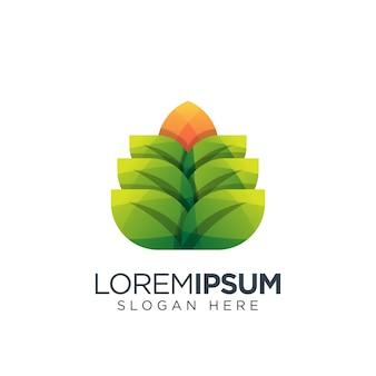 Logo liść nowoczesne
