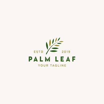 Logo liści palmowych