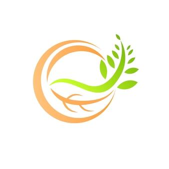 Logo liści przyrody