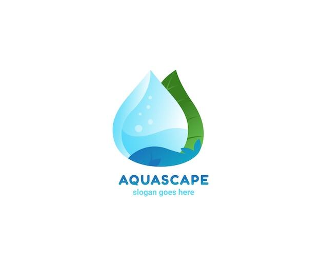 Logo liścia aquascape