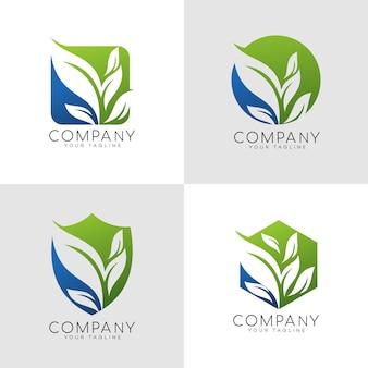 Logo liścia natury