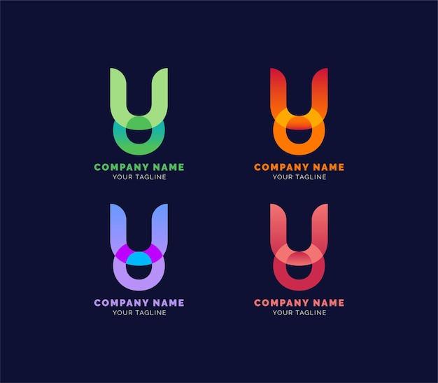 Logo literowe lub logo firmy lub logo nieruchomości premium wektorów