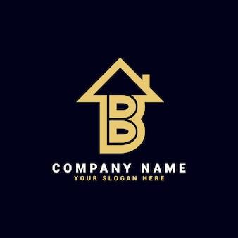 Logo litery b nieruchomości, logo mieszkania b, logo domu b