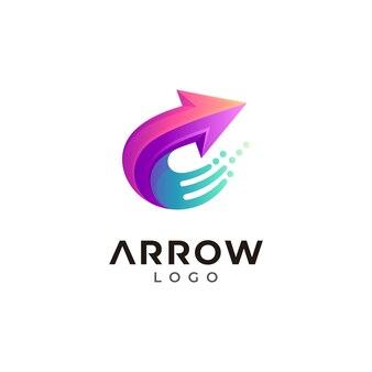 Logo litery c ze strzałką