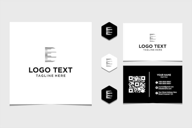Logo litery d inspiracja projektu butelki dla firmy i wizytówki premium wektorów