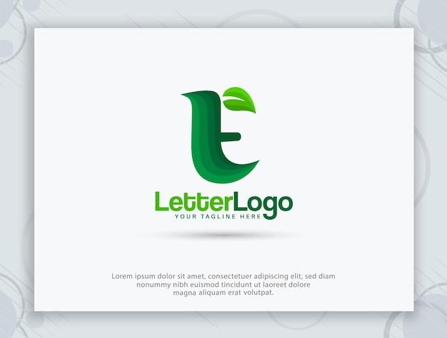 Logo litery e i projekt monogramu e