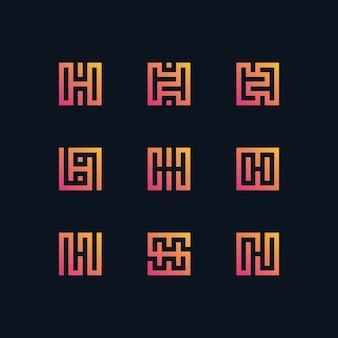 Logo litery h kolekcji