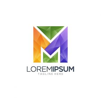 Logo litery m dla mediów i rozrywki