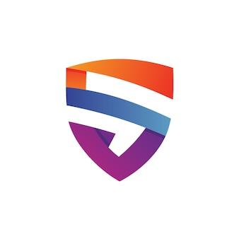 Logo litery s shield