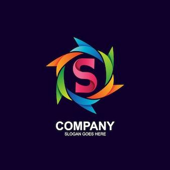 Logo litery s w wektorze