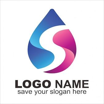 Logo litery s woda