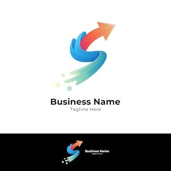 Logo litery s ze strzałką