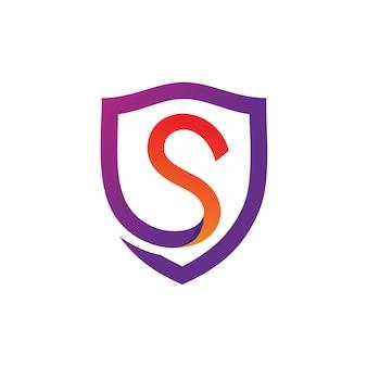 Logo litery t tarcza wektor