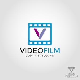 Logo litery v - logo filmu wideo