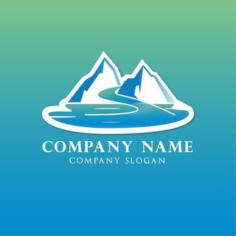 Logo lodowca górskiego