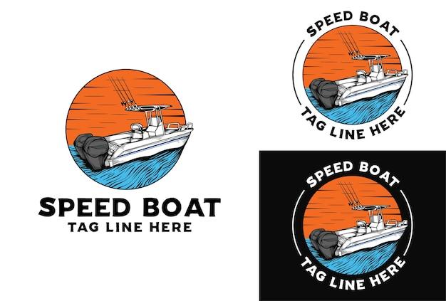 Logo łodzi motorowej