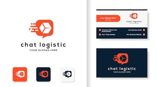 Logo logistyczne czatu i projekt wizytówki