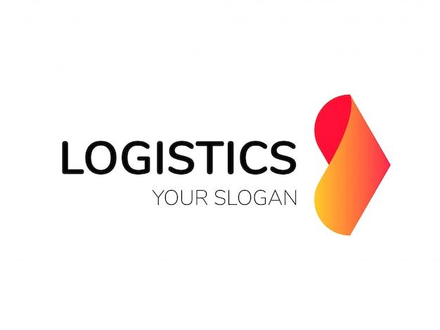 Logo logistyczne strzałka ekspresowa dostawa