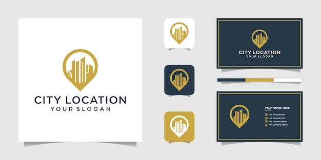 Logo lokalizacji budynku i wizytówka