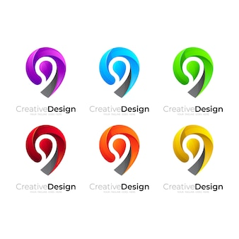 Logo lokalizacji, ustaw logo lokalizacji z kolorowym wzorem
