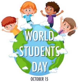Logo lub baner światowego dnia studentów