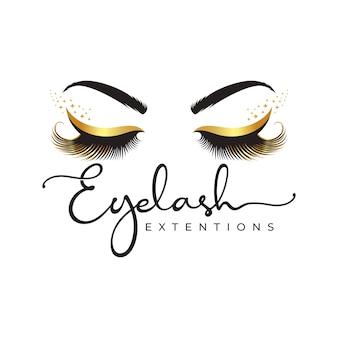 Logo luksusowego piękna rzęs