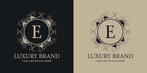 Logo luksusowej marki e.