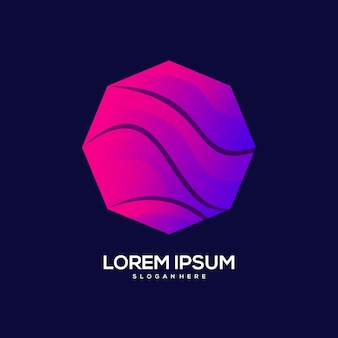 Logo luksusowy projekt kolorowa ilustracja gradientowa