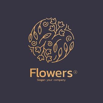 Logo luksusowych kwiatowych perfum