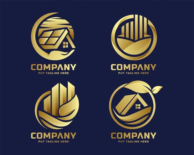 Logo luksusowych nieruchomości premium nature