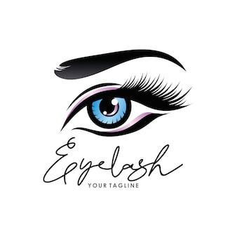 Logo luksusowych rzęs kosmetycznych
