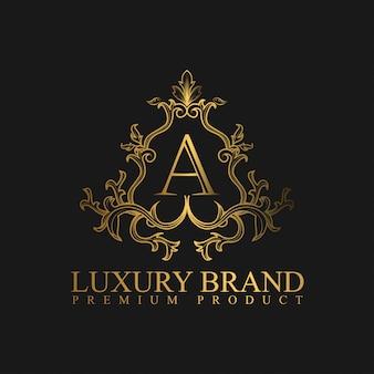Logo luxury w złotym kolorze