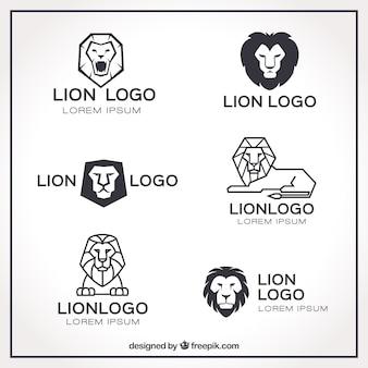 Logo lwa, geometryczny styl liniowy