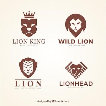 Logo lwa, kolor brązowy