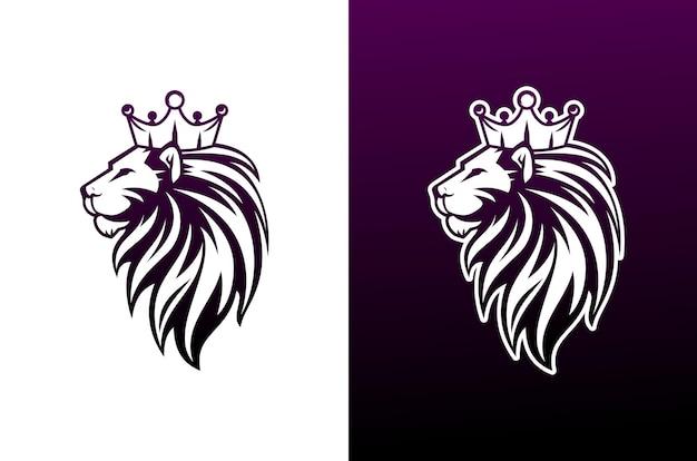 Logo lwa w luksusowym i e-sportowym stylu