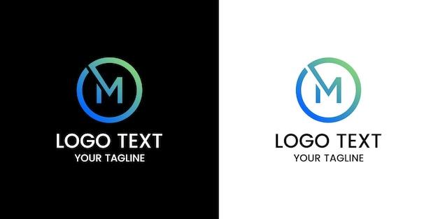 Logo m projekt wektor