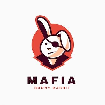 Logo mafia prosty styl maskotki.