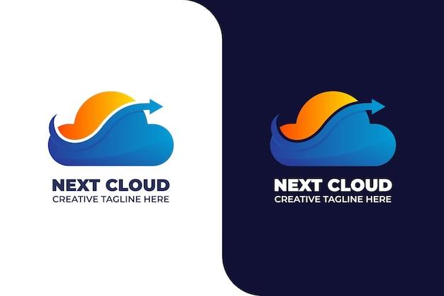 Logo magazynu arrow cloud do zapisywania plików