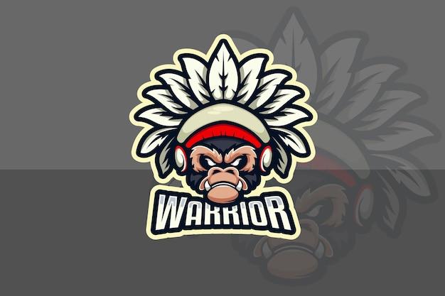 Logo małpi wojownik