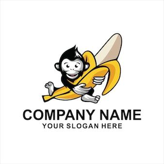 Logo małpy dziecka vect