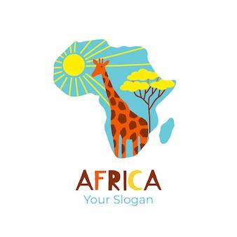 Logo mapy kolorowe afryki