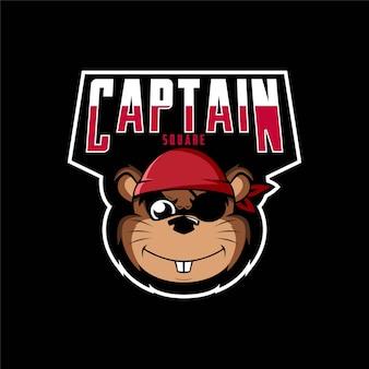 Logo mascot captain square