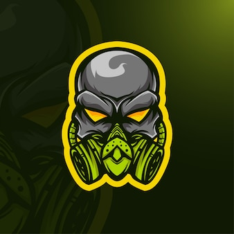Logo maski czaszki