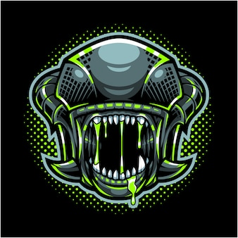 Logo maskotka alien head