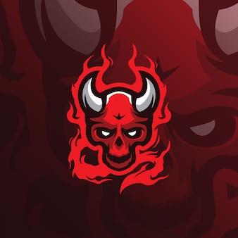 Logo maskotka diabeł czaszki