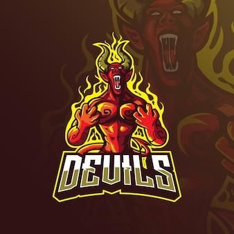 Logo maskotka diabła