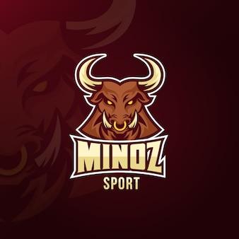 Logo maskotka dla koncepcji sportu