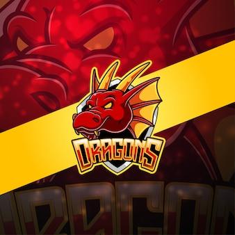 Logo maskotka dragon esport
