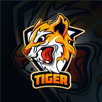 Logo maskotka dziki tygrys