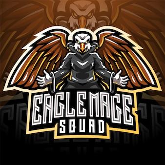Logo maskotka eagle eagle magic